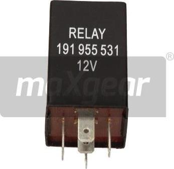 Maxgear 50-0010 - Relejs, Stiklu mazgāšanas sistēmas intervāls autodraugiem.lv