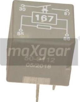 Maxgear 50-0112 - Relejs, Degvielas sūknis autodraugiem.lv