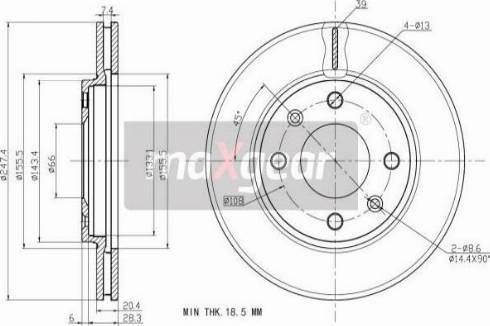 Maxgear 19-0696MAX - Bremžu diski autodraugiem.lv