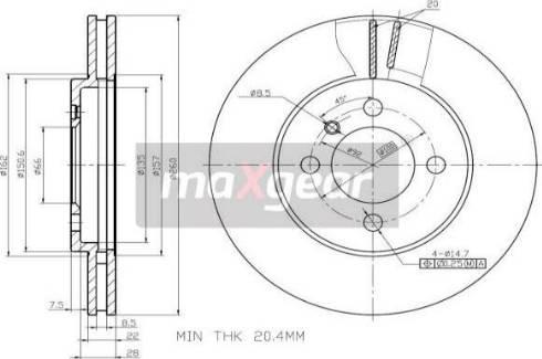 Maxgear 19-0691 - Bremžu diski autodraugiem.lv