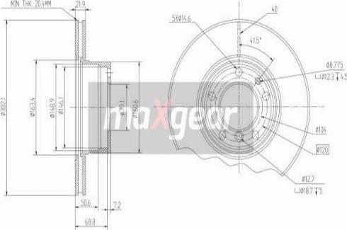 Maxgear 19-0689 - Bremžu diski autodraugiem.lv