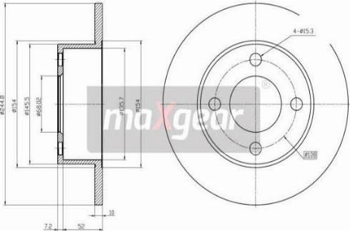 Maxgear 19-0685MAX - Bremžu diski autodraugiem.lv