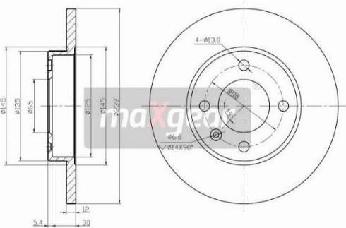 Maxgear 19-0681MAX - Bremžu diski autodraugiem.lv