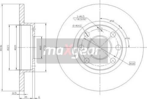 Maxgear 19-0744MAX - Bremžu diski autodraugiem.lv