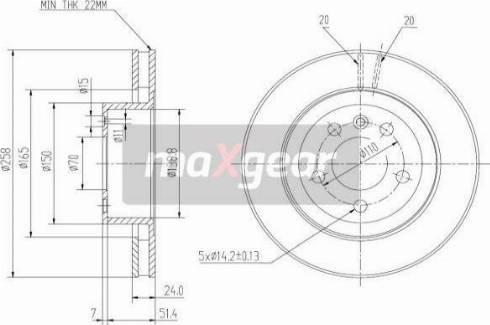 Maxgear 19-0740 - Bremžu diski autodraugiem.lv