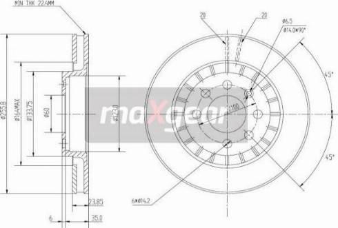 Maxgear 19-0743MAX - Bremžu diski autodraugiem.lv