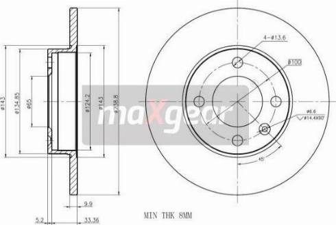Maxgear 19-0759MAX - Bremžu diski autodraugiem.lv