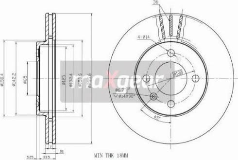 Maxgear 19-0754MAX - Bremžu diski autodraugiem.lv
