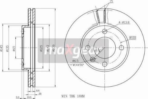 Maxgear 19-0755MAX - Bremžu diski autodraugiem.lv