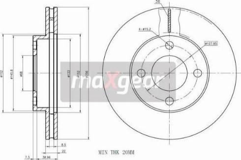 Maxgear 19-0752 - Bremžu diski autodraugiem.lv