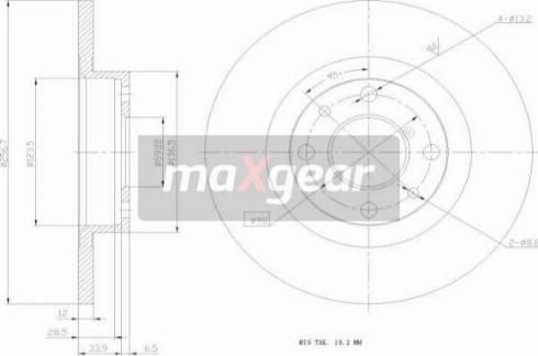 Maxgear 19-0768MAX - Bremžu diski autodraugiem.lv