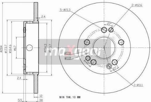 Maxgear 19-0719 - Bremžu diski autodraugiem.lv
