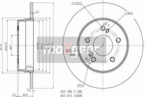 Maxgear 19-0726MAX - Bremžu diski autodraugiem.lv