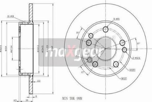 Maxgear 19-0721 - Bremžu diski autodraugiem.lv