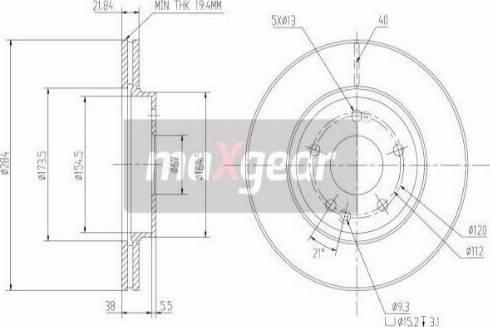 Maxgear 19-0723MAX - Bremžu diski autodraugiem.lv