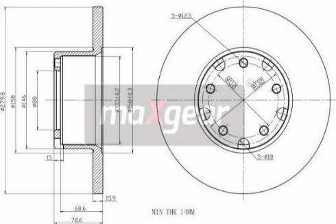 Maxgear 19-0779 - Bremžu diski autodraugiem.lv