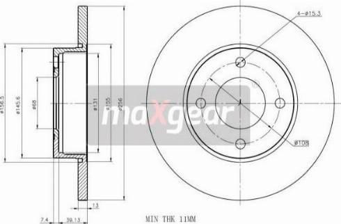 Maxgear 19-0778MAX - Bremžu diski autodraugiem.lv
