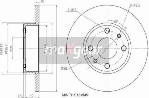 Maxgear 19-1010 - Bremžu diski autodraugiem.lv