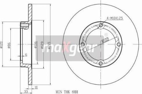 Maxgear 19-1032 - Bremžu diski autodraugiem.lv