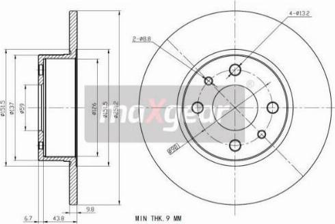Maxgear 19-1199MAX - Bremžu diski autodraugiem.lv