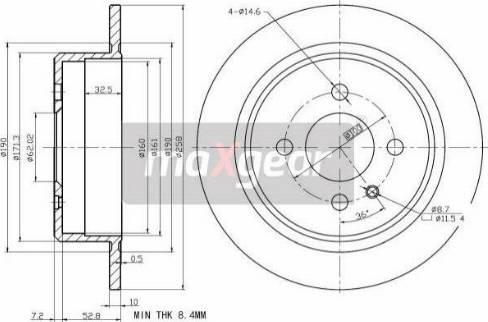 Maxgear 19-2663 - Bremžu diski autodraugiem.lv