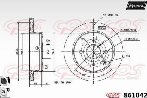 Maxtech 861042.6060 - Bremžu diski autodraugiem.lv