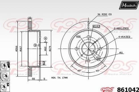 Maxtech 861042.6880 - Bremžu diski autodraugiem.lv