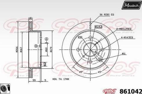 Maxtech 861042.0060 - Bremžu diski autodraugiem.lv