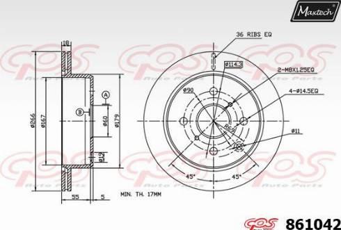 Maxtech 861042.0000 - Bremžu diski autodraugiem.lv