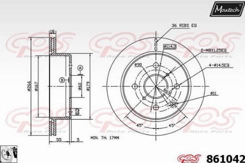 Maxtech 861042.0080 - Bremžu diski autodraugiem.lv