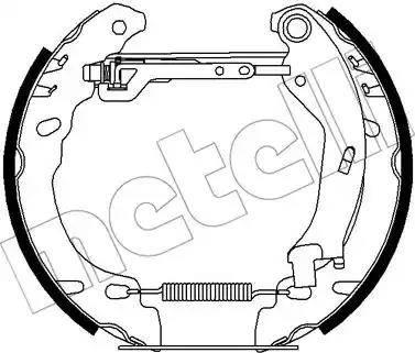 Metelli 51-0446 - Bremžu komplekts, trumuļa bremzes autodraugiem.lv