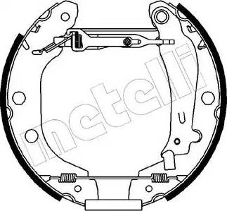 Metelli 51-0096 - Bremžu komplekts, trumuļa bremzes autodraugiem.lv