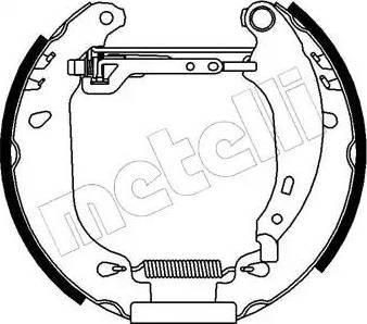 Metelli 51-0092 - Bremžu komplekts, trumuļa bremzes autodraugiem.lv