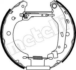 Metelli 51-0097 - Bremžu komplekts, trumuļa bremzes autodraugiem.lv
