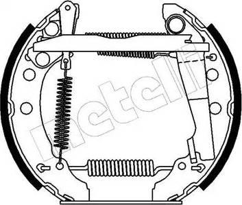 Metelli 51-0045 - Bremžu komplekts, trumuļa bremzes autodraugiem.lv
