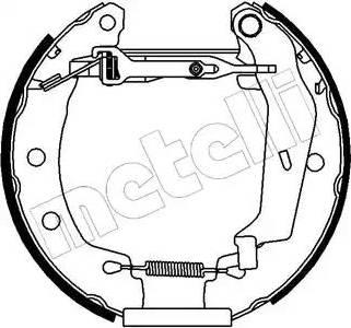 Metelli 51-0061 - Bremžu komplekts, trumuļa bremzes autodraugiem.lv