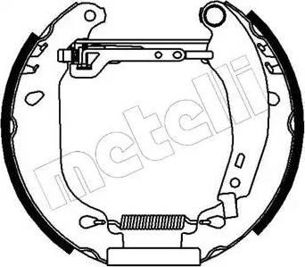 Metelli 51-0013 - Bremžu komplekts, trumuļa bremzes autodraugiem.lv