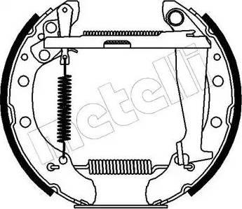 Metelli 51-0084 - Bremžu komplekts, trumuļa bremzes autodraugiem.lv