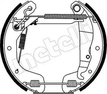 Metelli 51-0079 - Bremžu komplekts, trumuļa bremzes autodraugiem.lv