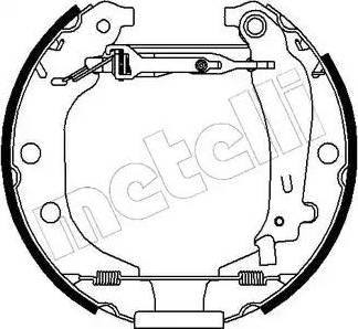 Metelli 51-0078 - Bremžu komplekts, trumuļa bremzes autodraugiem.lv