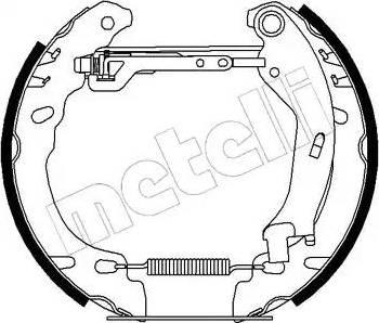 Metelli 51-0194 - Bremžu komplekts, trumuļa bremzes autodraugiem.lv
