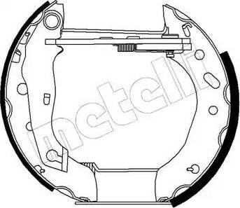 Metelli 51-0192 - Bremžu komplekts, trumuļa bremzes autodraugiem.lv