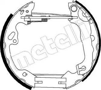 Metelli 51-0197 - Bremžu komplekts, trumuļa bremzes autodraugiem.lv