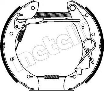 Metelli 51-0140 - Bremžu komplekts, trumuļa bremzes autodraugiem.lv