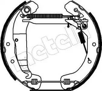 Metelli 51-0141 - Bremžu komplekts, trumuļa bremzes autodraugiem.lv