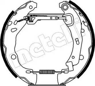 Metelli 51-0155 - Bremžu komplekts, trumuļa bremzes autodraugiem.lv
