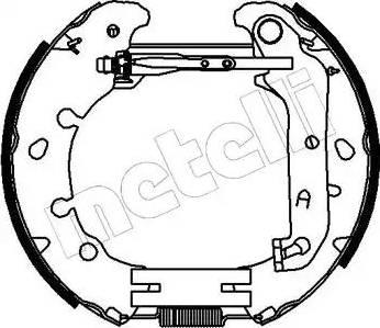 Metelli 51-0153 - Bremžu komplekts, trumuļa bremzes autodraugiem.lv