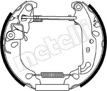 Metelli 51-0168 - Bremžu komplekts, trumuļa bremzes autodraugiem.lv