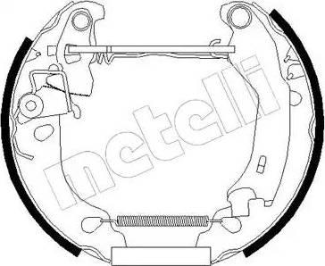 Metelli 51-0181 - Bremžu komplekts, trumuļa bremzes autodraugiem.lv
