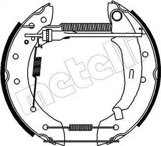 Metelli 51-0133 - Bremžu komplekts, trumuļa bremzes autodraugiem.lv